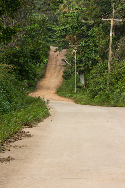 Road to souther beaches on Koh Lanta, Thailand