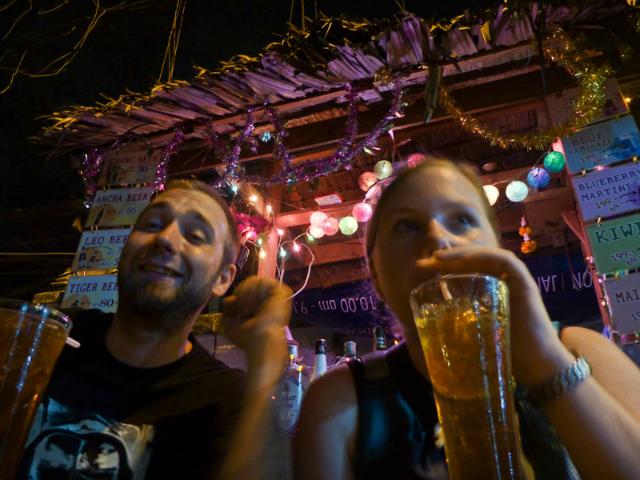 Street bar Banglamphu Bangkok Thailand