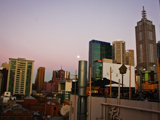 view from the rooftop cinema melbourne australia