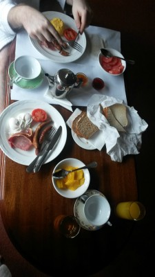 Breakfast delivered to the room Tinakilly Hotel