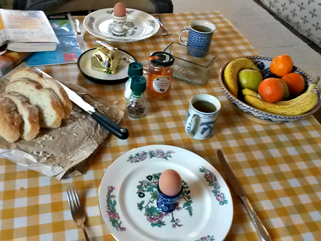 Breakfast in the cottage