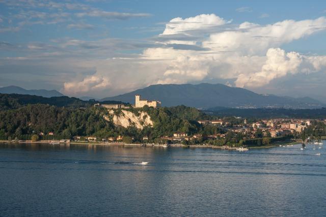 Visiting Rocca di Arona - Lake Maggiore view