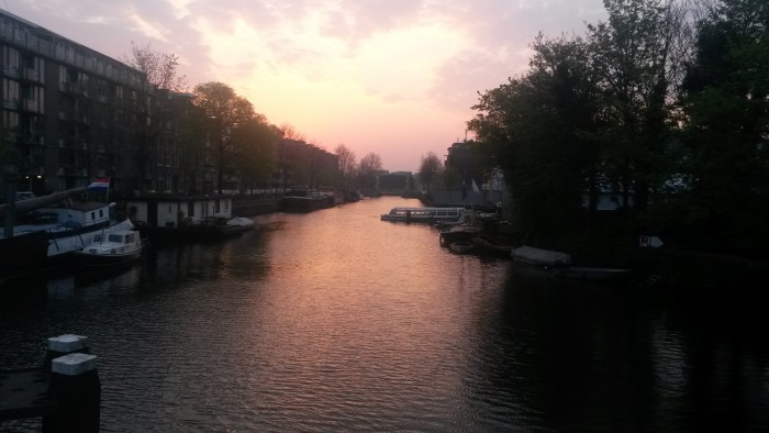Amsterdam Canal at Sunrise