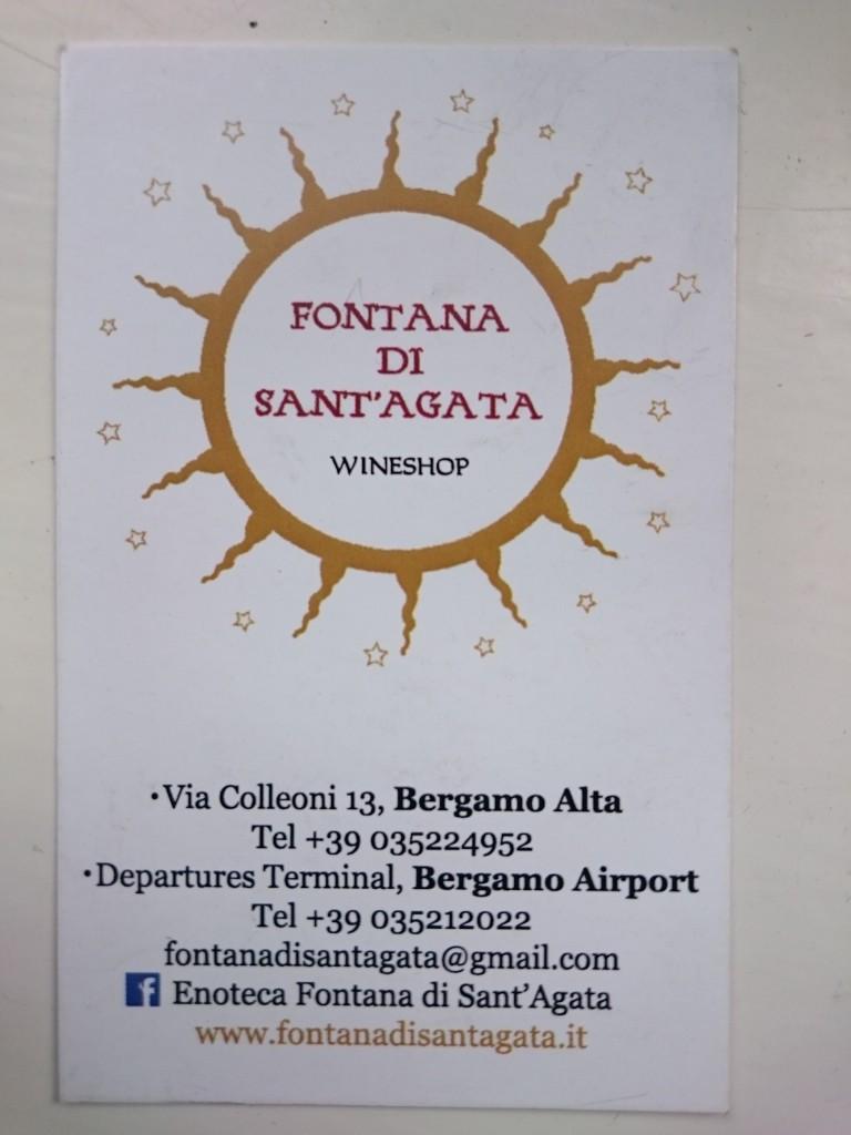 Fontana di Sant'Agata Wine Shop Bergamo