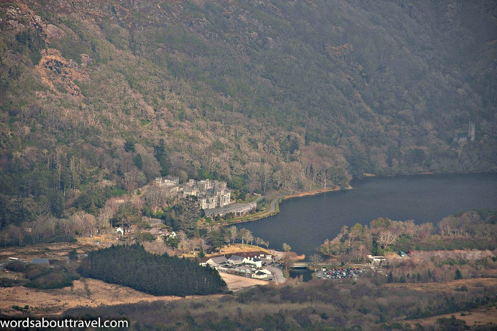 Kylemore Abbey in the distance