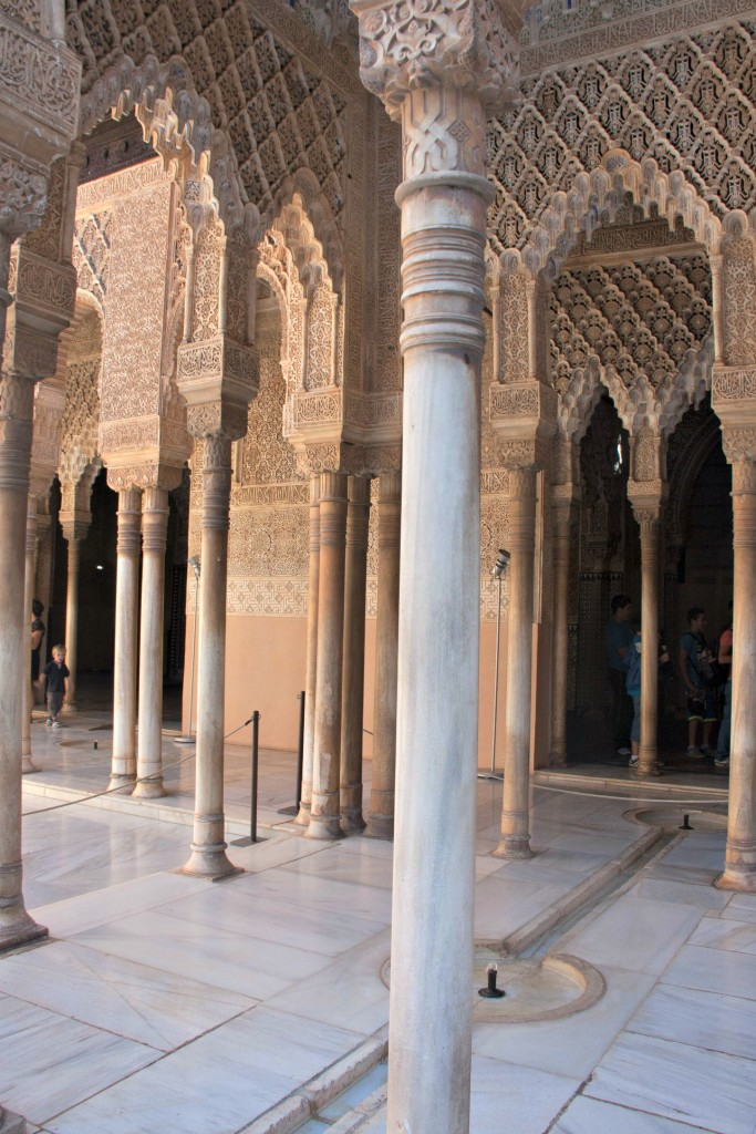 Alhambra Palace Granada pillars Nasrid Palace