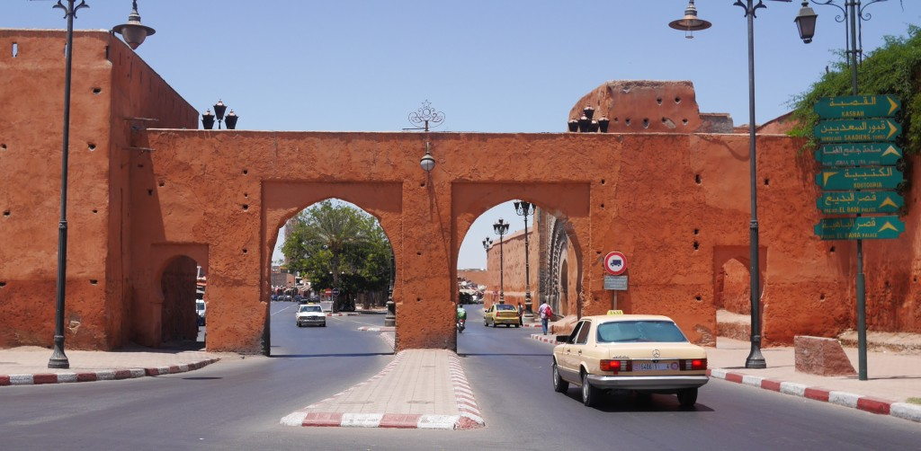 The gates of the medina Marrakech