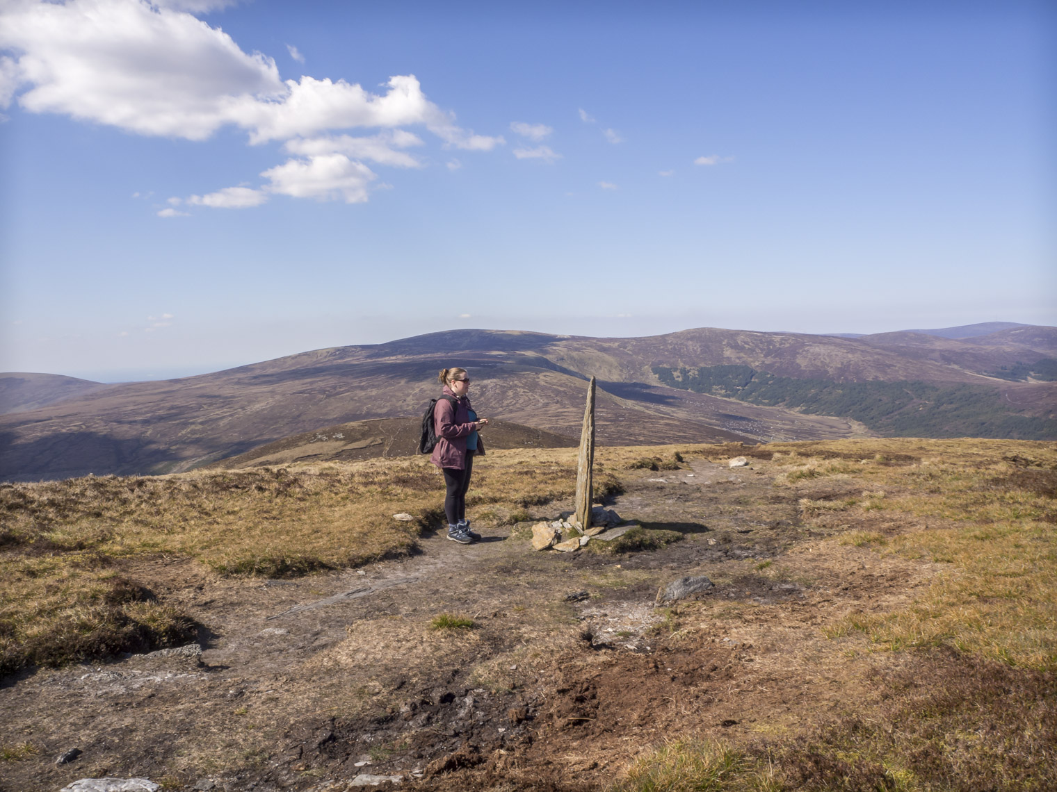 Standing-Stone-Tonelagee-Wicklow