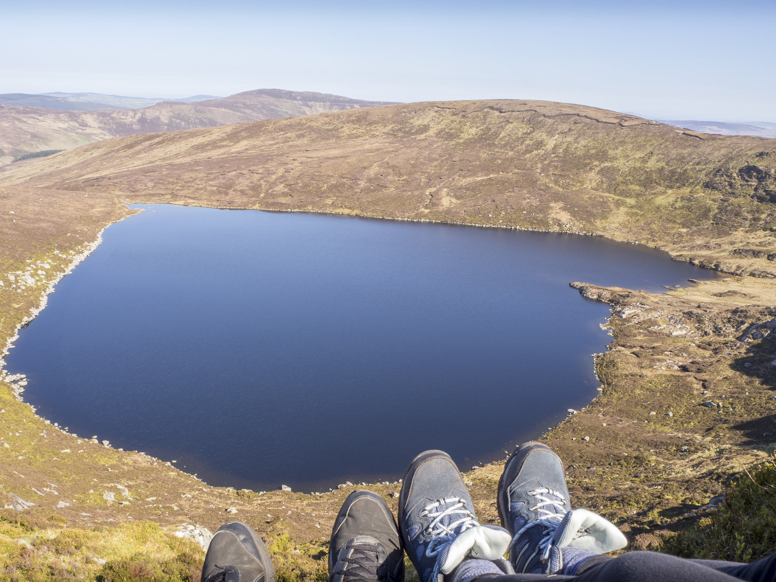 toe-dangling-lough-Ouler-Wicklow