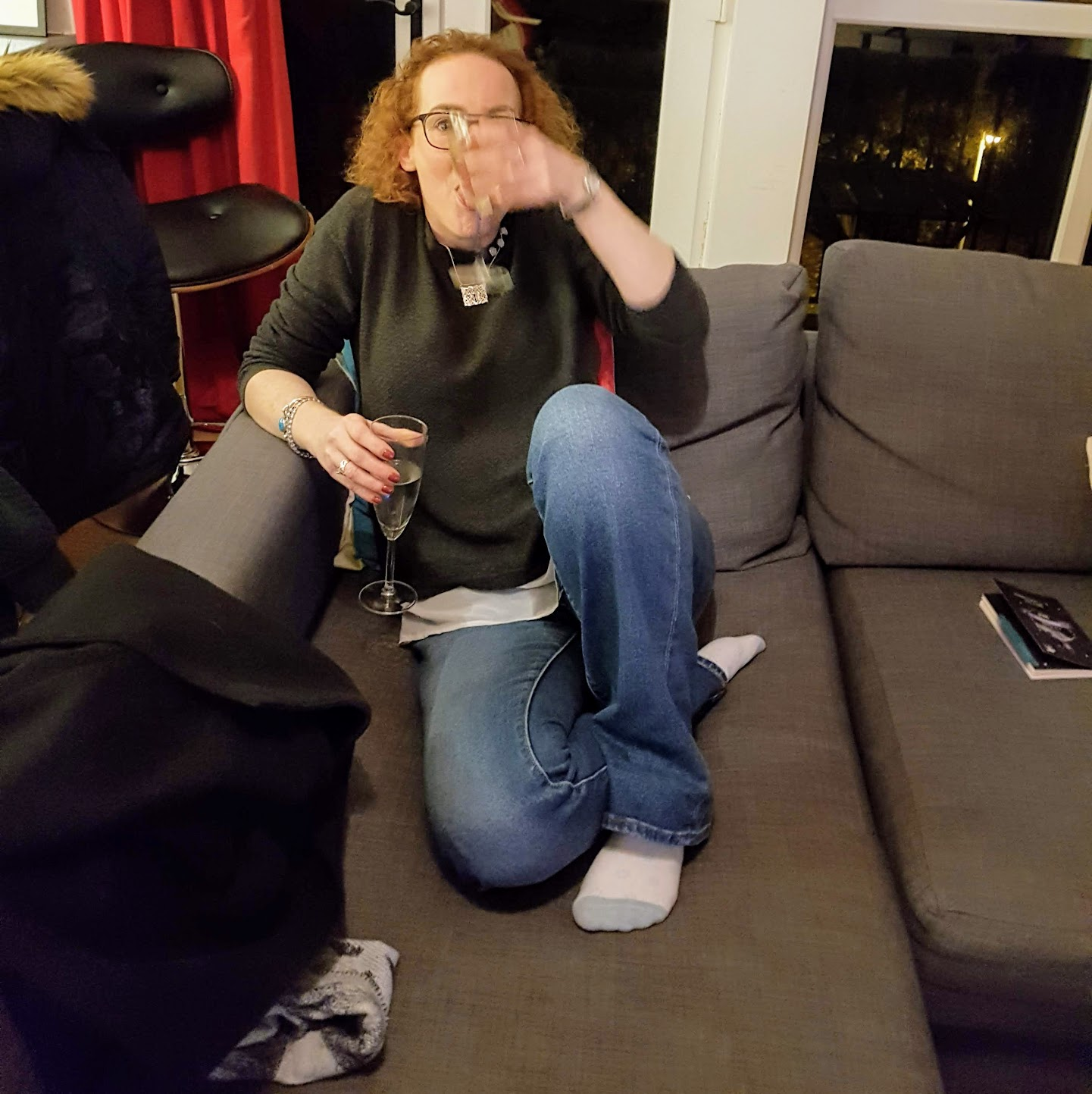 Prosecco in the Airbnb apartment