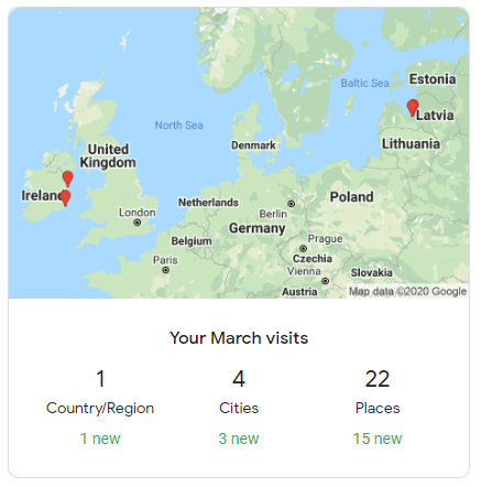 Travel stats for March