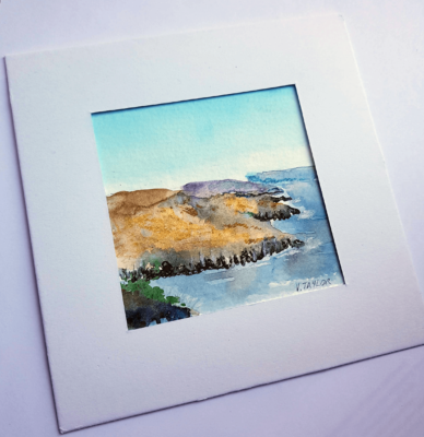 Irish coastal watercolour painting
